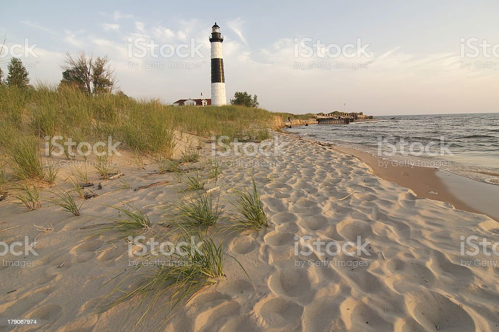 Beautiful view of Big Sable Light stock photo