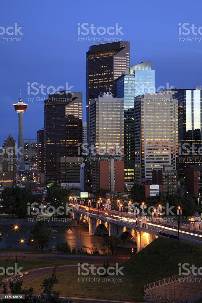 Beautiful view of Calgary, Canada royalty-free stock photo
