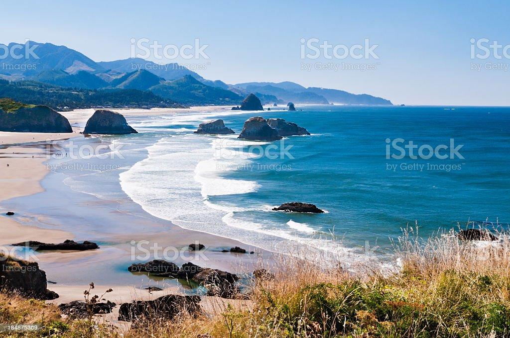 Beautiful view of Cannon beach in the Oregon coast stock photo