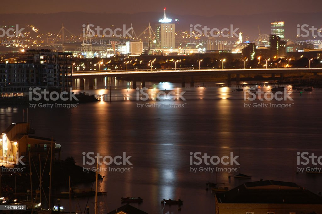 A beautiful view of Cardiff bay stock photo