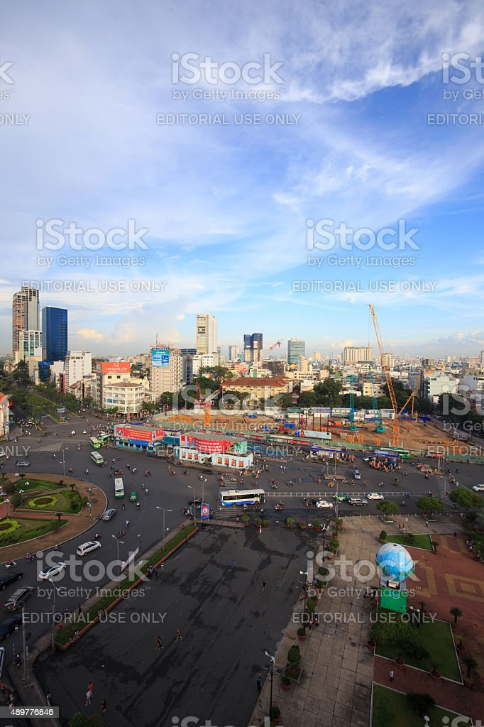 Beautiful view of center of Ho Chi Minh city royalty-free stock photo