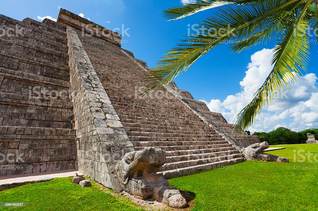 Beautiful view of Chichen Itza monument, Mexico stock photo
