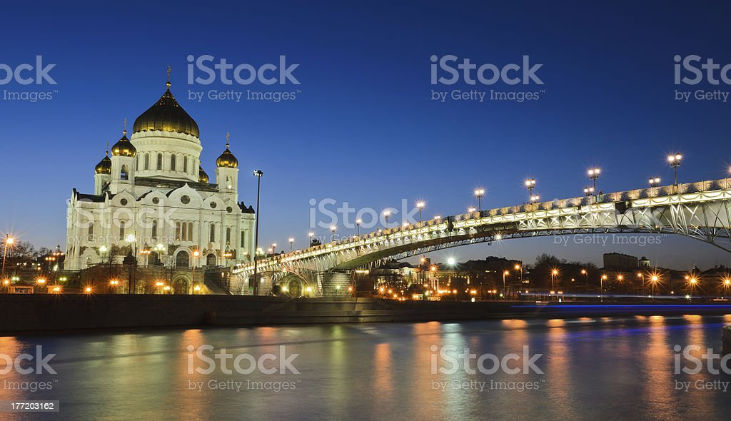 Beautiful view of Christ the Savior at dusk royalty-free stock photo