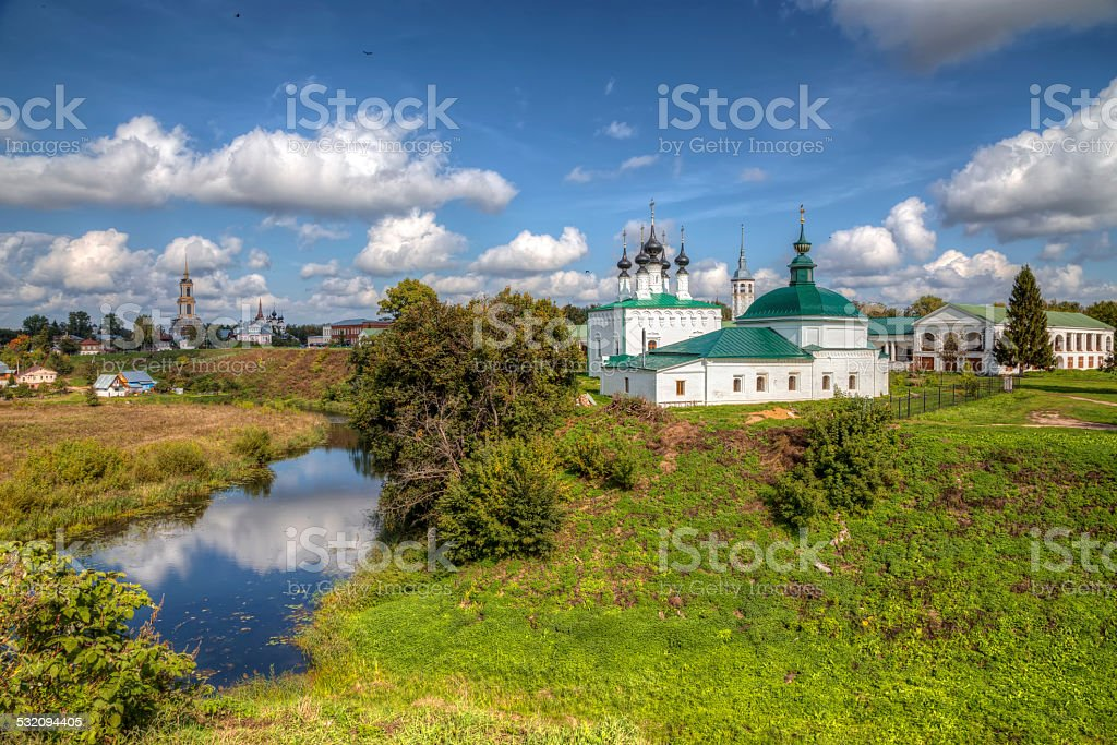 Beautiful view of city Suzdal. Russia stock photo