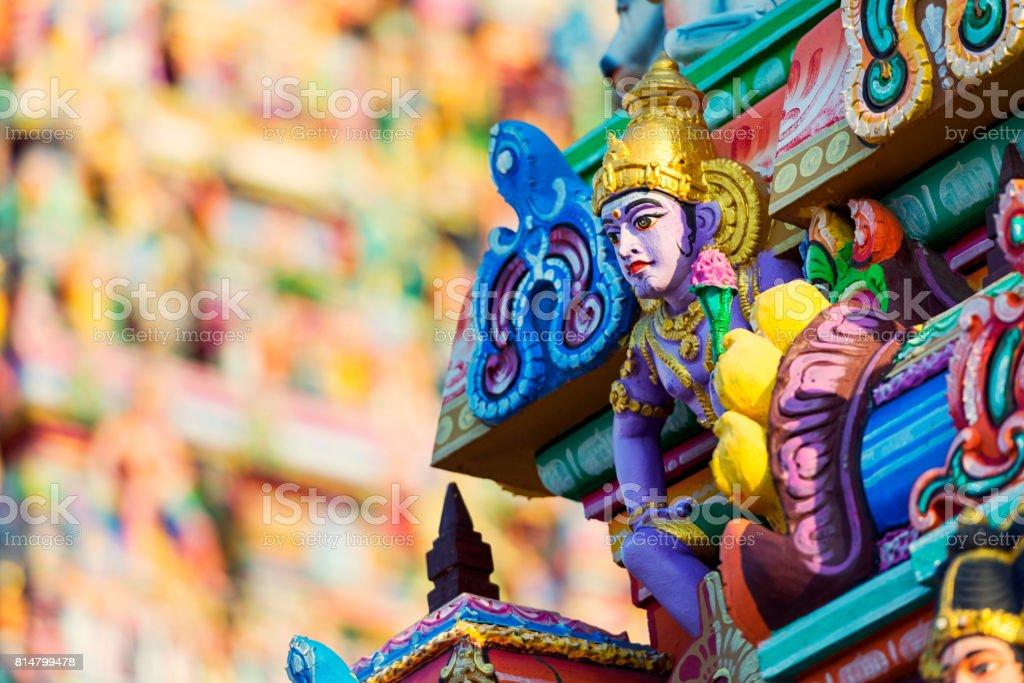 Beautiful view of colorful gopura in the Hindu Kapaleeshwarar Temple,chennai, Tamil Nadu, South India stock photo