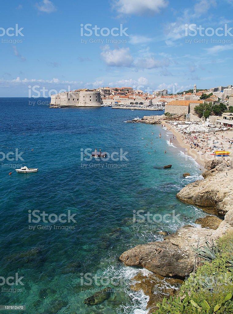 Beautiful view of Dubrovnik stock photo