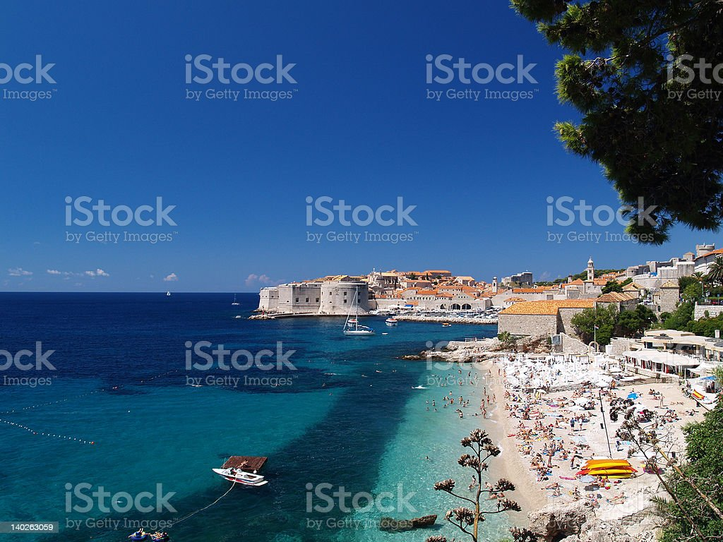Beautiful view of Dubrovnik royalty-free stock photo