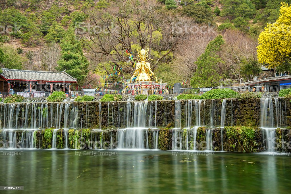 beautiful view of god of nature and waterfall stream outdoor stock photo