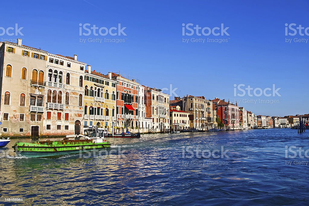 Beautiful view of Grand Canal, Venice stock photo