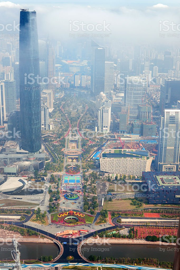 Beautiful view of Guangzhou stock photo