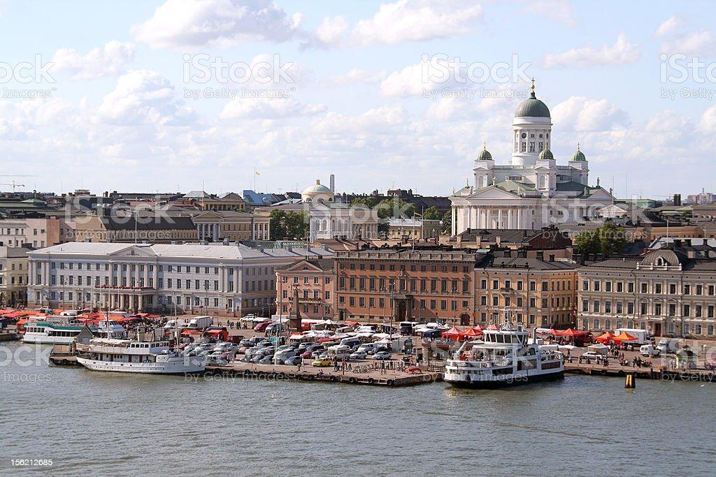 Beautiful view of Helsinki harbor, Finland royalty-free stock photo