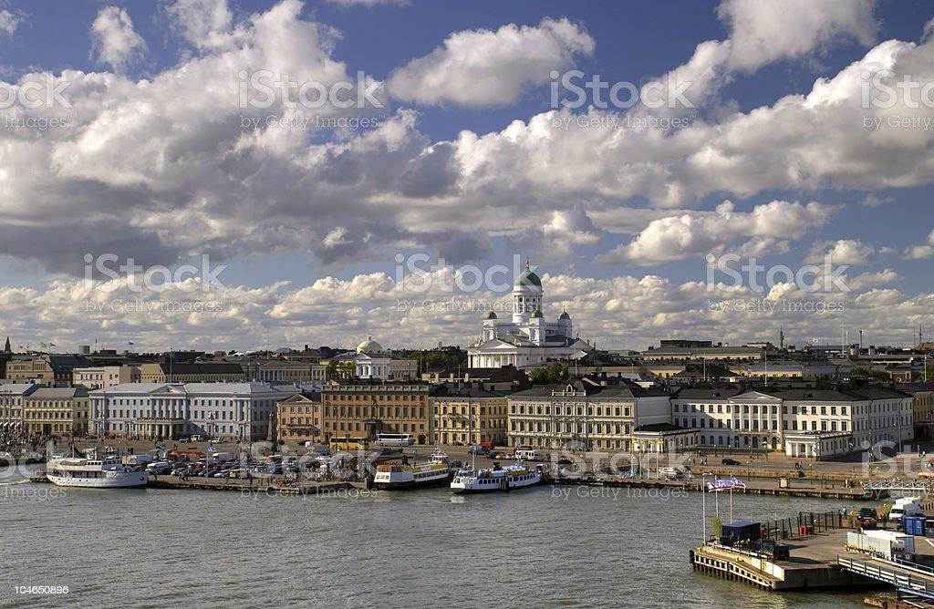 Beautiful view of Helsinki royalty-free stock photo