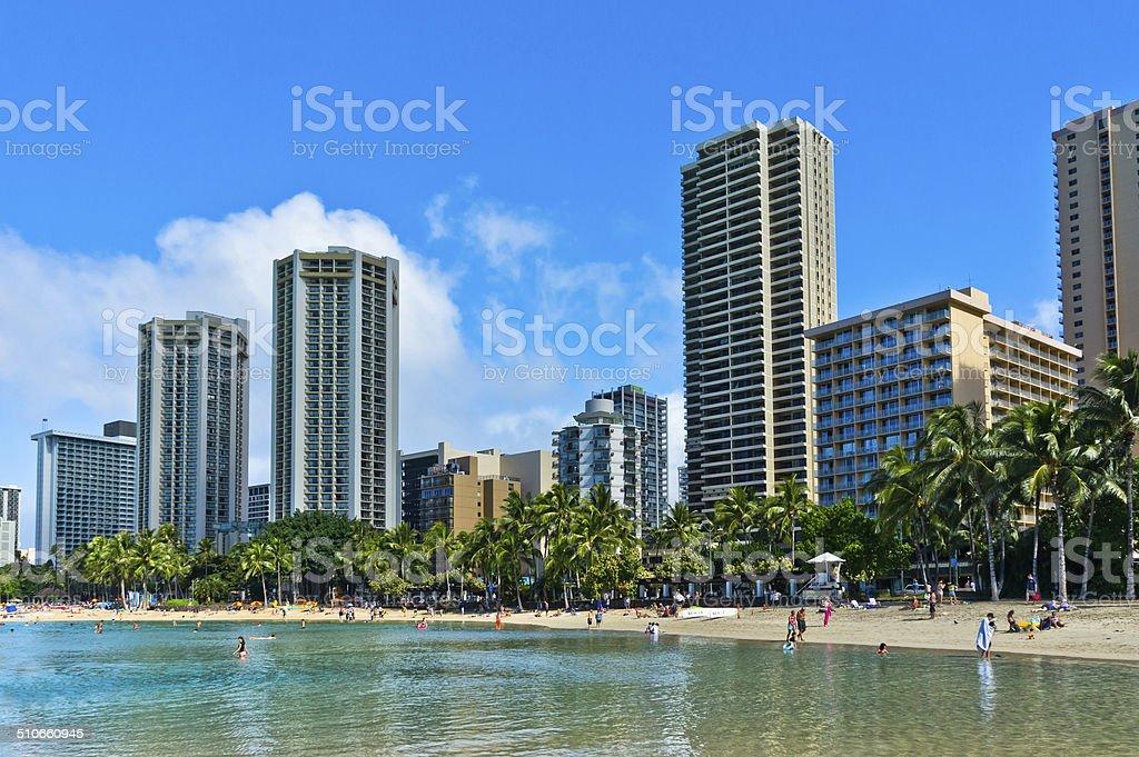 Beautiful view of Honolulu, Hawaii, United States stock photo