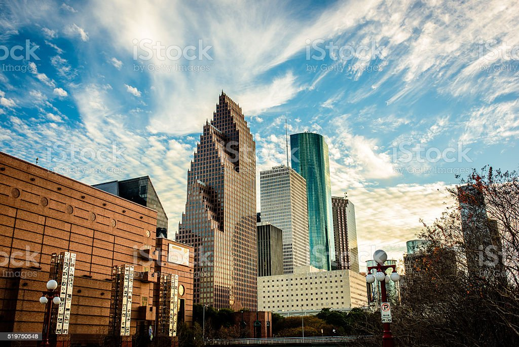 Beautiful view of Houston stock photo