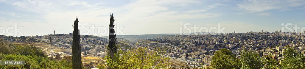 Beautiful view of Jerusalem city, Israel royalty-free stock photo