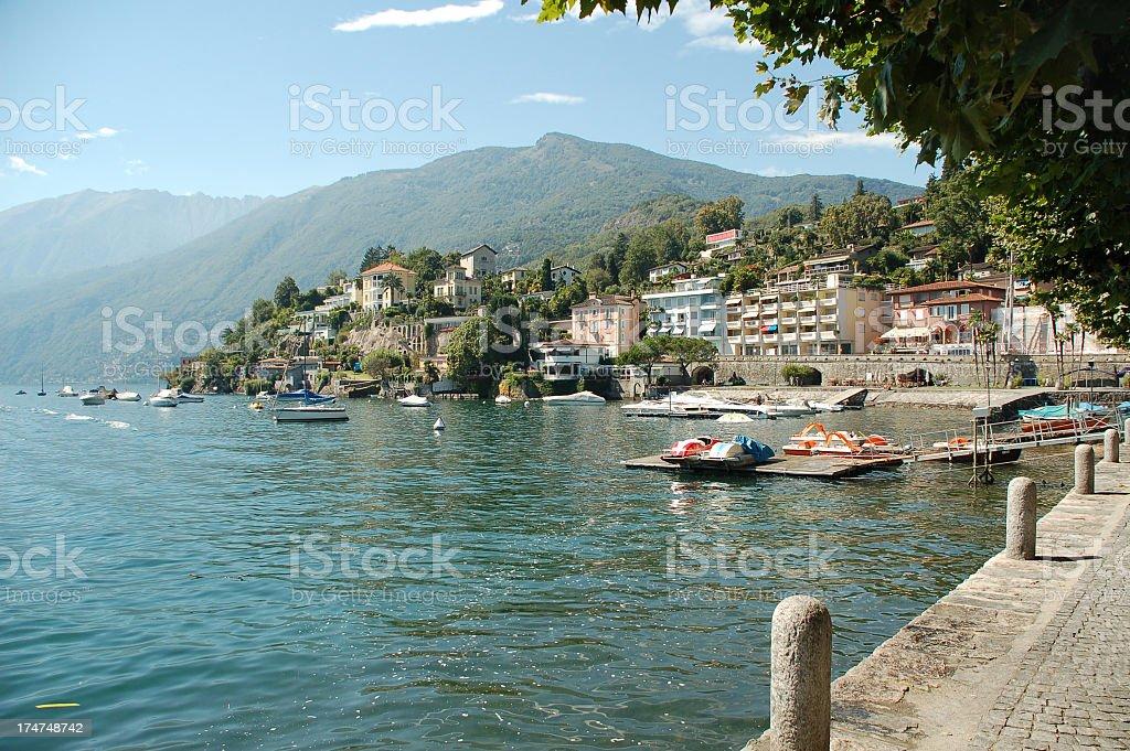 Beautiful view of Lago Maggiore stock photo
