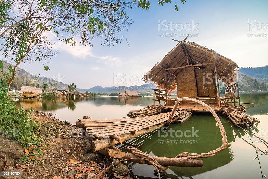 Beautiful view of lake stock photo