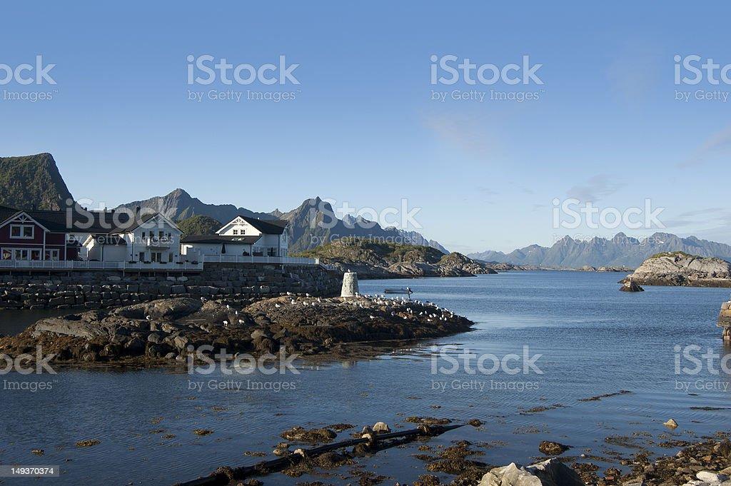 beautiful view of Lofoten island stock photo