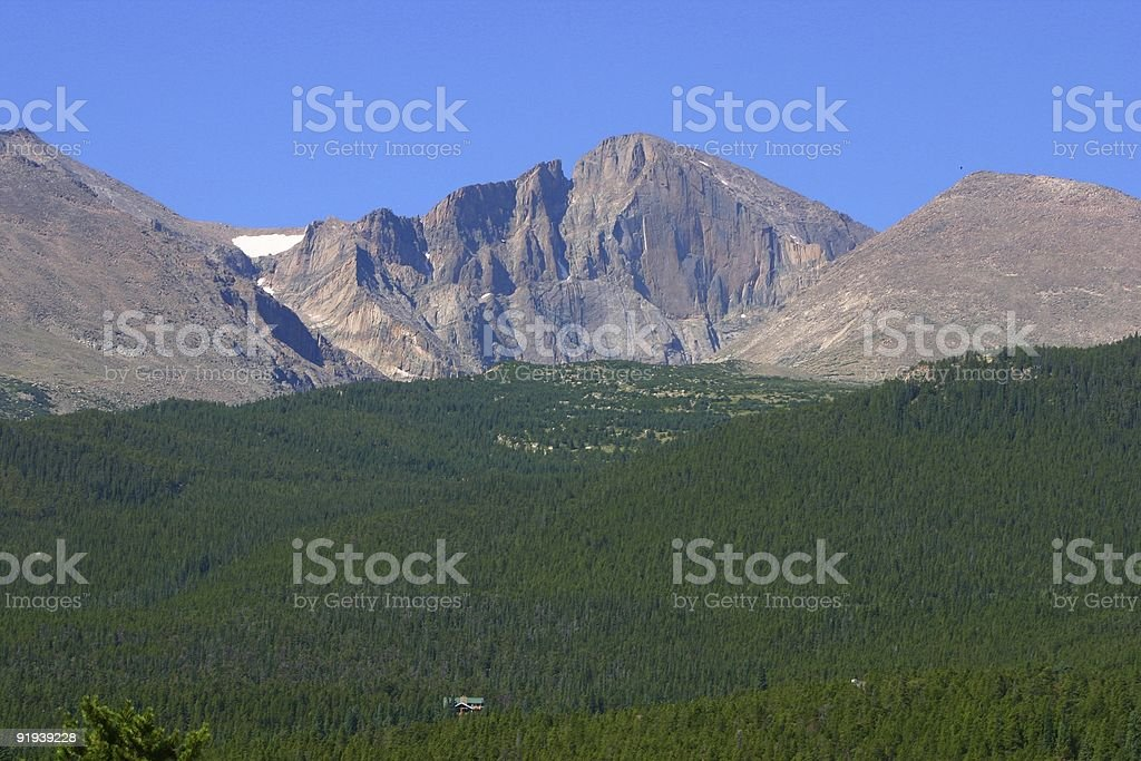 A beautiful view of Longs peak royalty-free stock photo