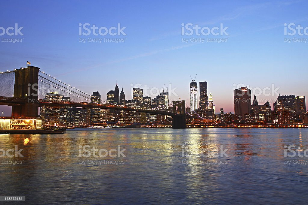Beautiful view of Manhattan royalty-free stock photo