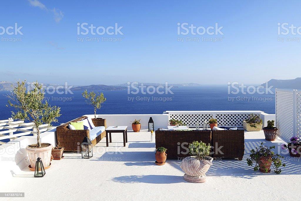 Beautiful View of Mediterranean Seascape stock photo