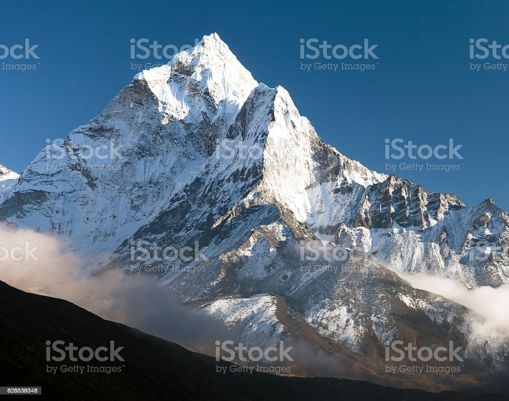 beautiful view of mount Ama Dablam stock photo