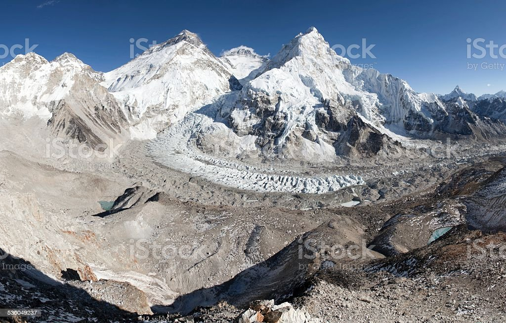 Beautiful view of mount Everest stock photo