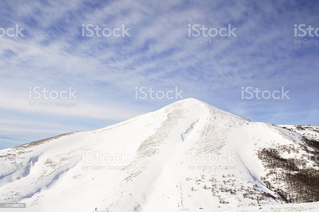 Beautiful view of mountain Bjelasnica royalty-free stock photo
