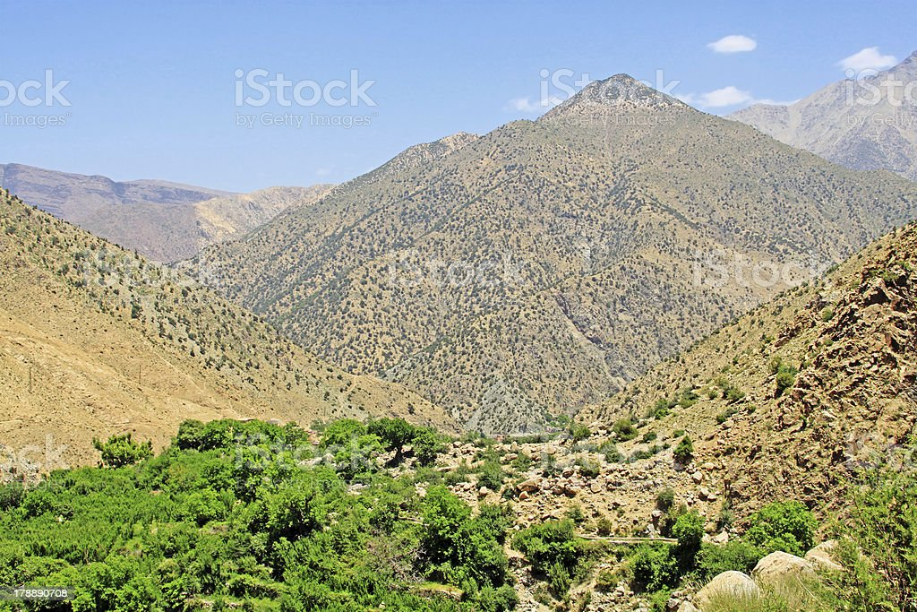 Beautiful view of mountains in sunny day royalty-free stock photo
