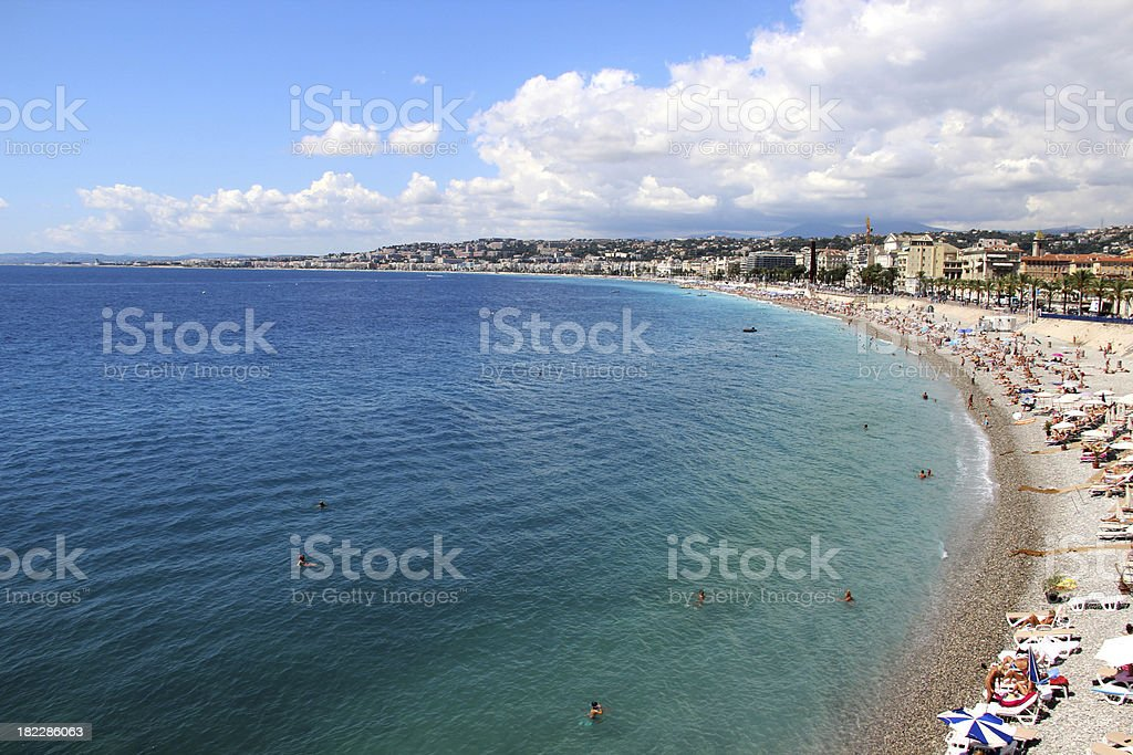 Beautiful view of Nice, France, Provence royalty-free stock photo