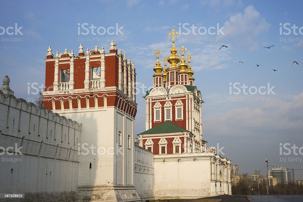 Beautiful view of Novodevichy Convent in Moscow, Russia stock photo