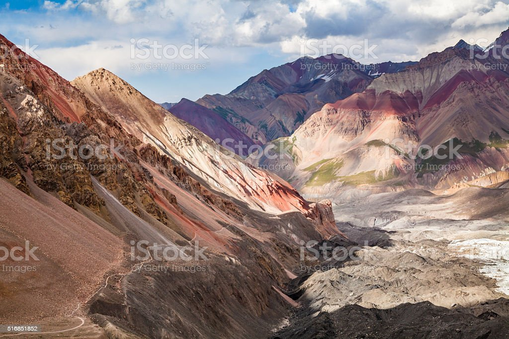 Beautiful view of Pamir mountains stock photo