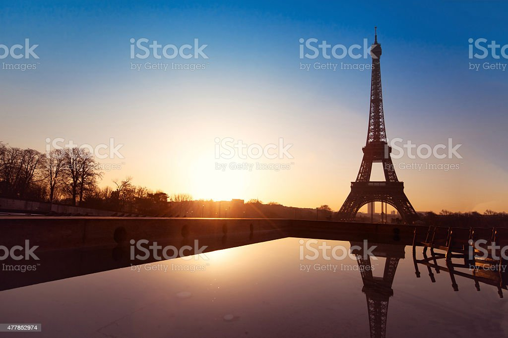 beautiful view of Paris, France stock photo