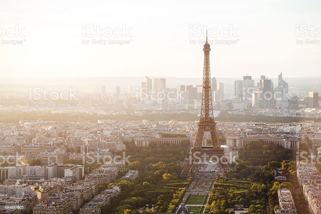 beautiful view of Paris with Eiffel tower