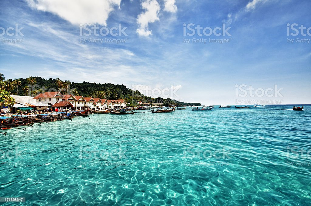 Beautiful view of Phi-phi islands, Phuket, Thailand stock photo