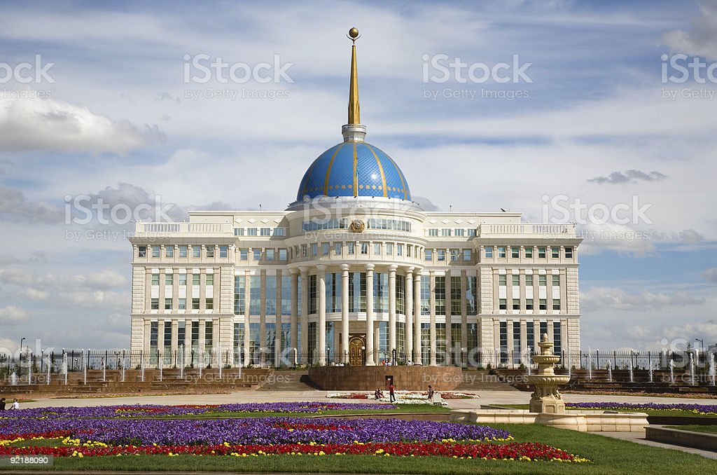 A beautiful view of Presidents palace stock photo