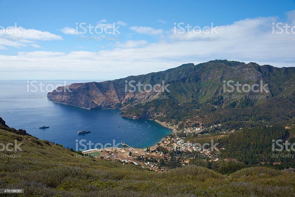A beautiful view of Robinson Crusoe Island stock photo