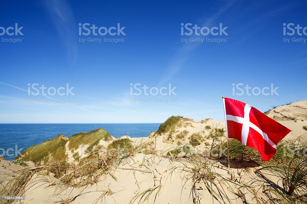 A beautiful view of Rubjerg Knude stock photo