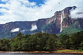 A beautiful view of Salto angel