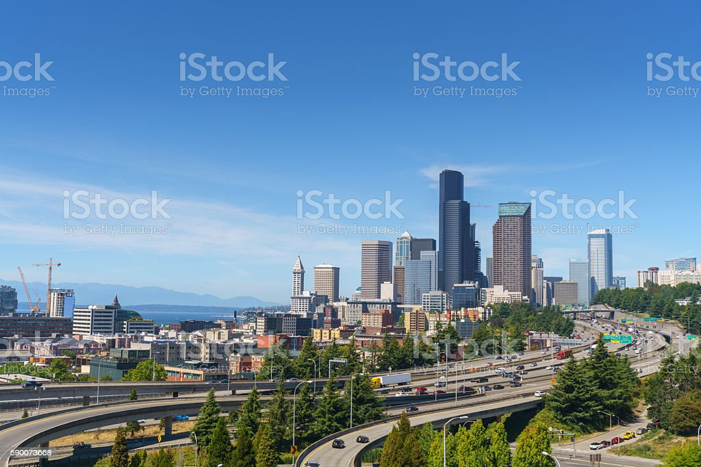 Beautiful View of Seattle Downtown royalty-free stock photo