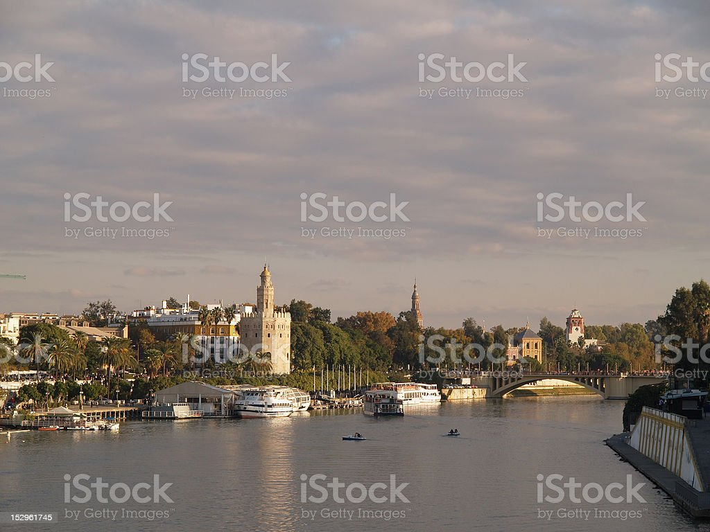 Beautiful view of Seville stock photo