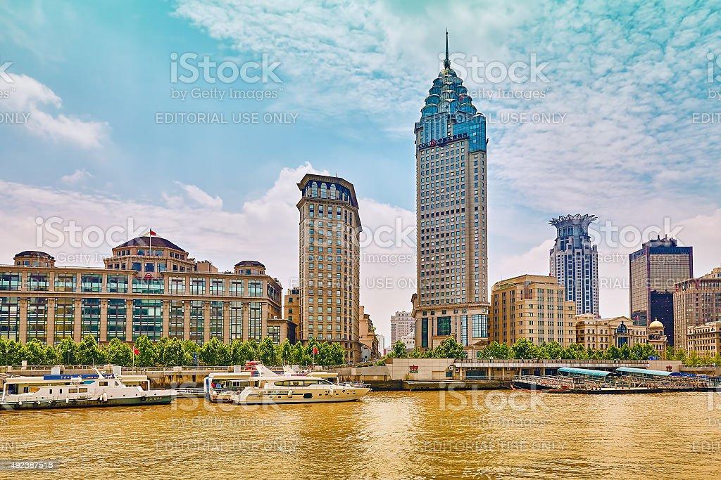 Beautiful view of Shanghai. stock photo