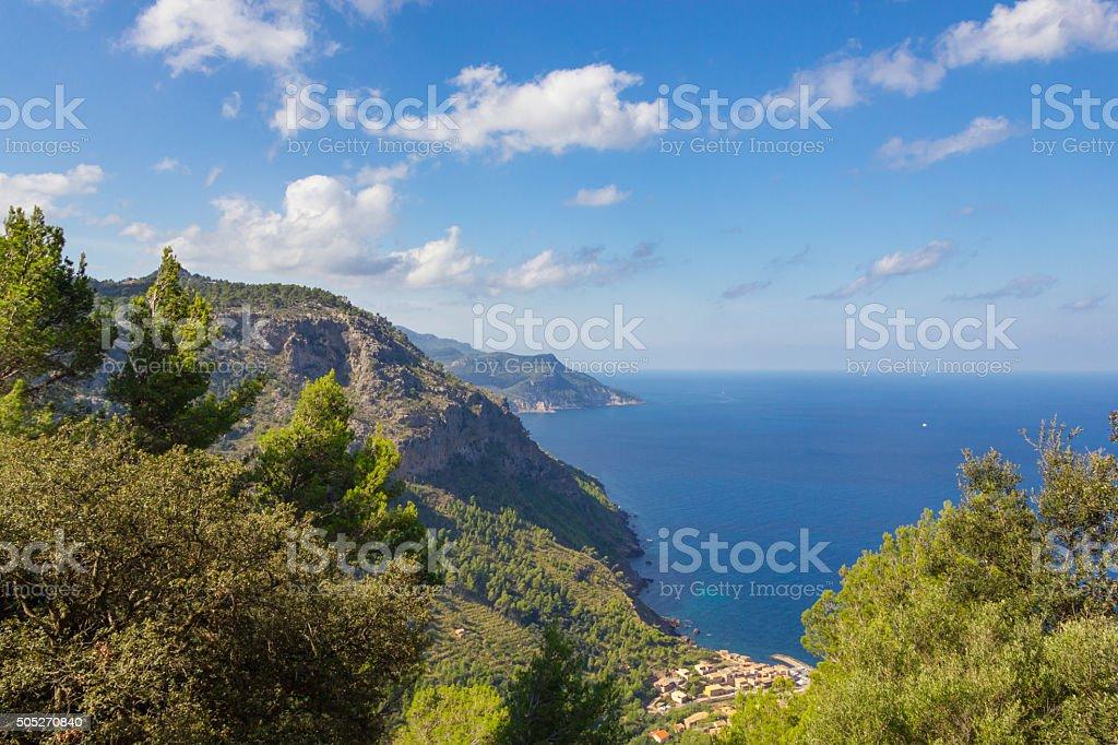 Beautiful view of Sierra de Tramuntana, Mallorca, Spain stock photo