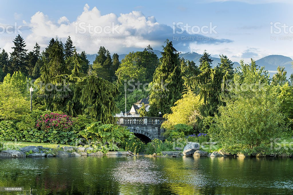 Beautiful view of Stanley Park, Vancouver stock photo