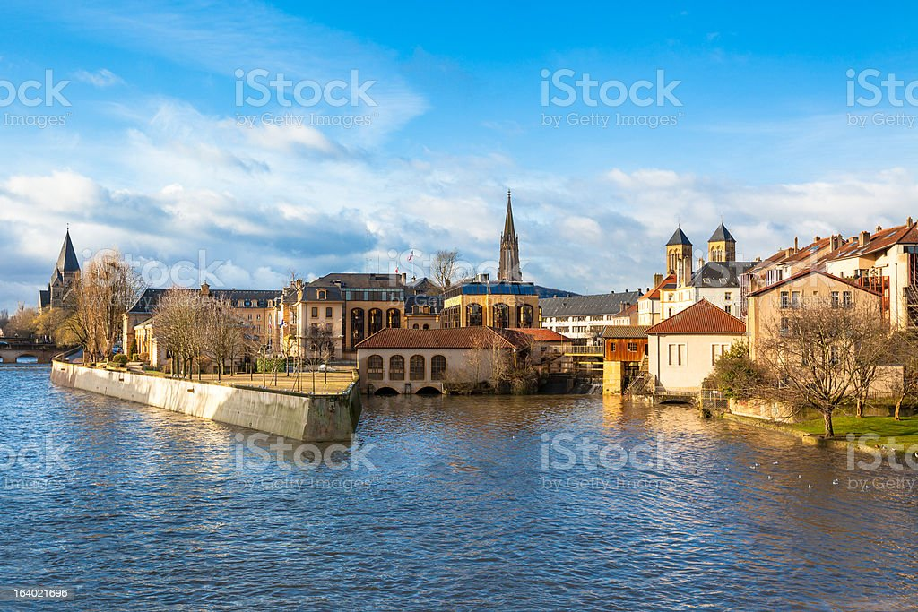 Beautiful view of the Ancient Town of Metz, France stock photo