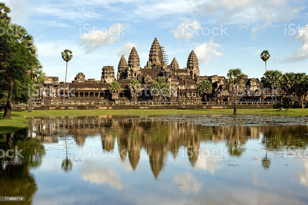 Beautiful view of the Angkor Wat in Cambodia stock photo