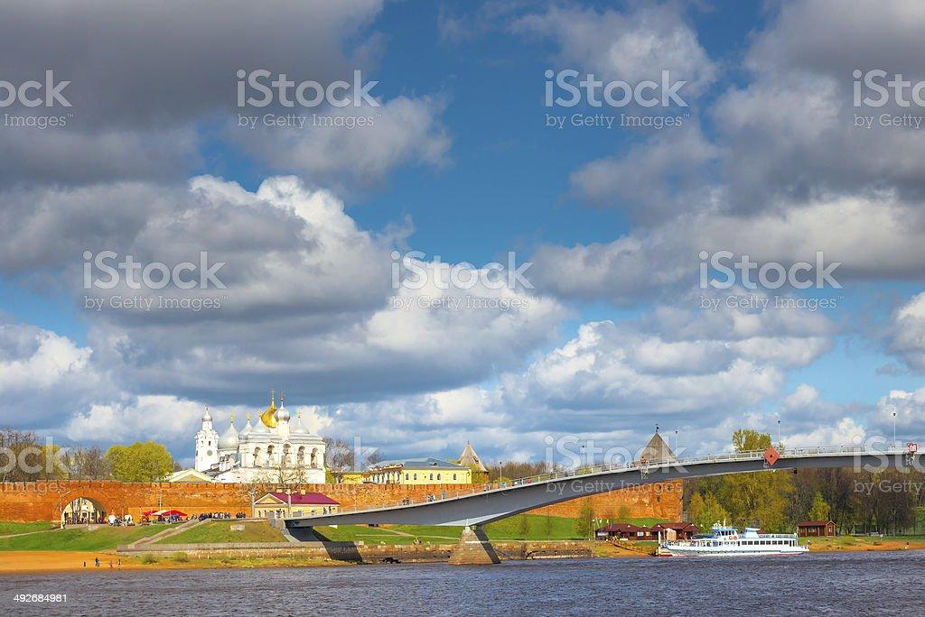 beautiful view of the churches Novgorod Kremlin royalty-free stock photo