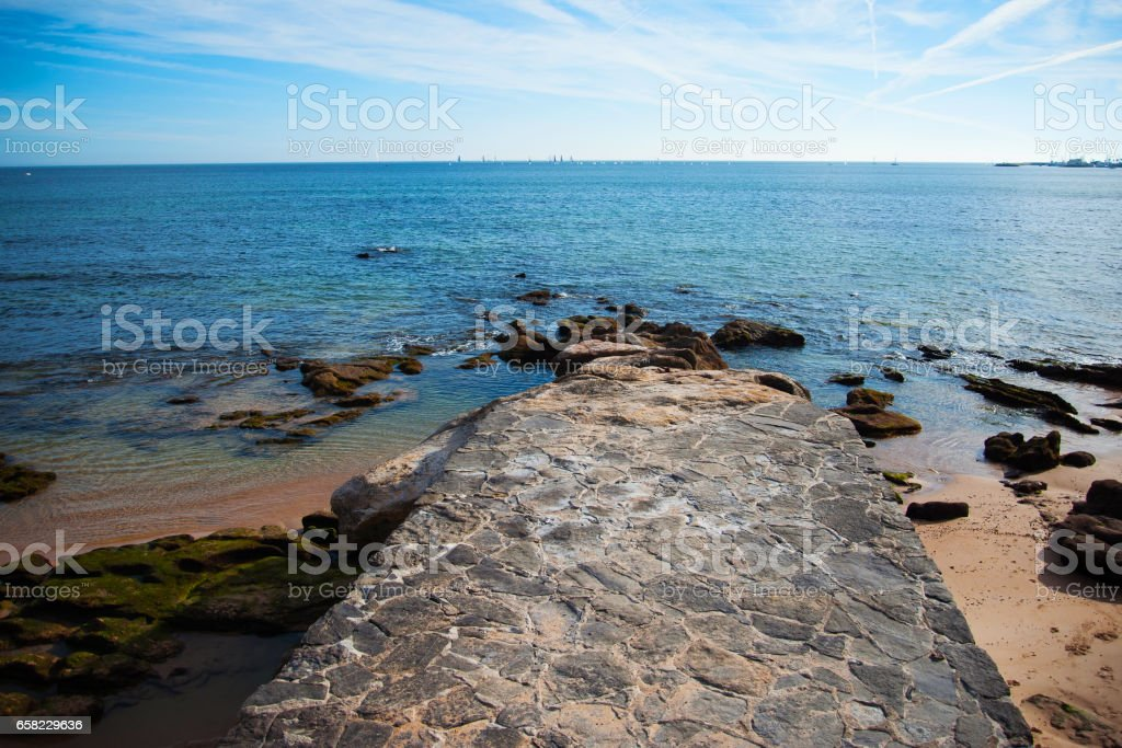 Beautiful view of the coast near Atlantic Ocean stock photo