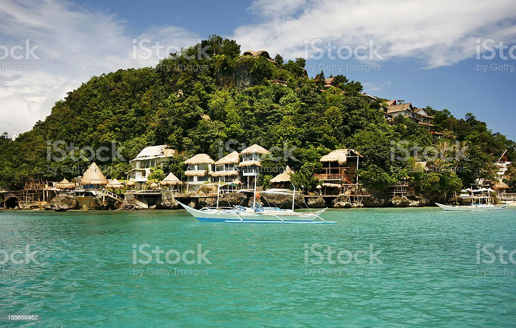A beautiful view of the island of Boracay stock photo