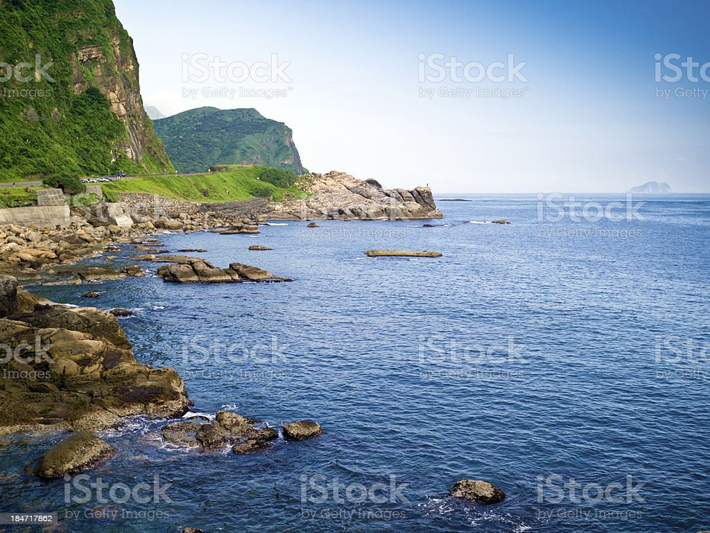 beautiful view of the pacific coastline stock photo